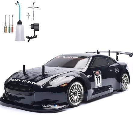 【】1/10 4WD 2.4G ニトロ 2速ドリフト RC HSP racingラジコン 色選択可 ブラック ブルー【領収発行可】 B07NPQZ5WM