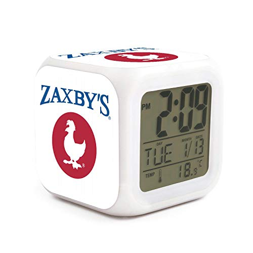 HZBBSB Zaxbys-Logo Electronic Alarm Clock Gifts for Sweetheart Fashion Dormitory