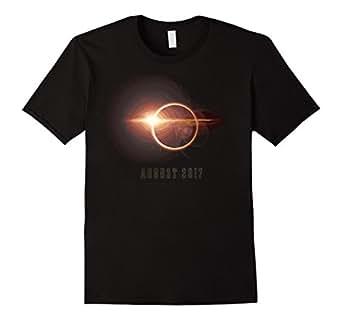 Mens Solar Eclipse August 2017 T Shirt 2XL Black