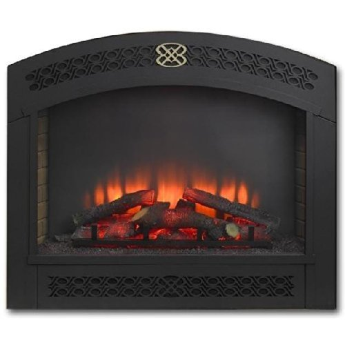 Cheap Outdoor Greatroom Company Full Arch Electric Fireplace Front for GBI-41 in Matte Black Black Friday & Cyber Monday 2019