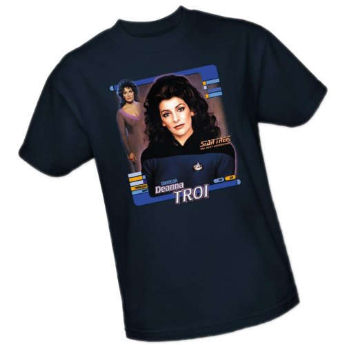 Counselor Deanna Troi -- Star Trek: The Next Generation Adult T-Shirt, Large