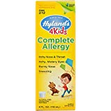 Hyland's 4 Kids Complete Allergy Syrup, Safe and Natural Indoor & Outdoor Allergy Relief for Children, 4 Ounce