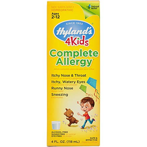 Kids Allergy Relief by Hyland's 4Kids, Complete Allergy Syrup, Safe and Natural Indoor & Outdoor Allergy Relief for Children, 4 Ounce (Packaging May Vary)
