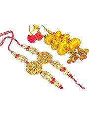 Craft Kala Raksha Bhandan Handmade Rakhi Bracelet for Brother Bhaiya Rakshabandhan Gift Brothers Bandhan Colourful Silk