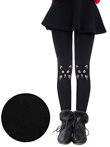 Govc Girls Winter Warm Fleece Lined Elastic Waist Velvet Stretchy Thick Leggings(Black...