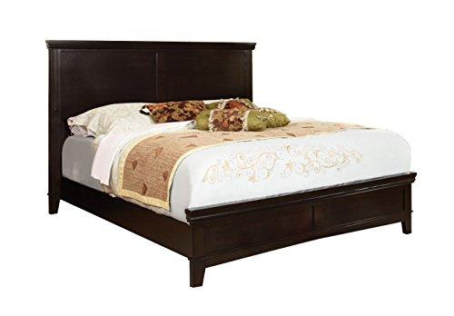 Furniture of America Pasha Platform Bed, Queen, Espresso Finish