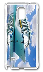 MOKSHOP Adorable Big Cruise Ship Hard Case Protective Shell Cell Phone Cover For Samsung Galaxy Note 4 - PC Transparent