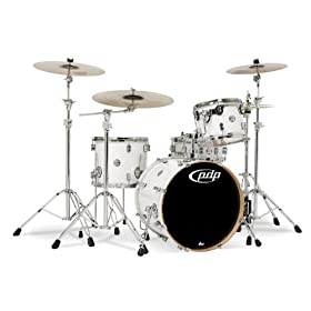 Pacific Drums PDCM2014PW 4-Piece Drumset with Chrome Hardware - Pearlescent White 5