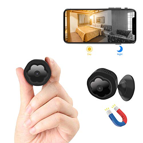(Mini WiFi Hidden Camera,Wireless Spy Camera HD 1080P Security Camera for Home Nanny Cam with Night Vision Motion Detection, Built-in Magnetic Fit Indoor Outdoor Recording )