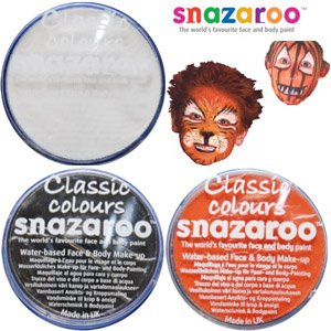 3 Large 18ml Snazaroo Face Painting Compacts 1