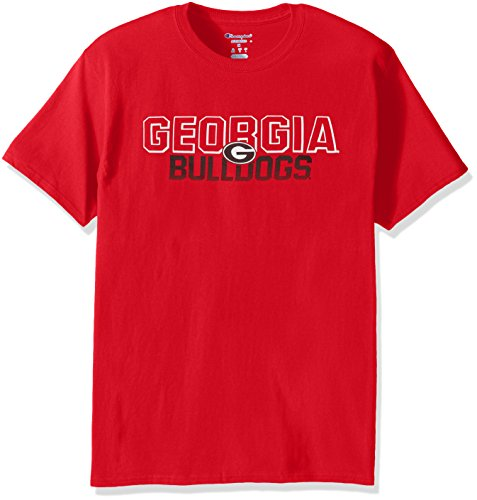 Champion NCAA Men's Short Sleeve Graphic T-Shirt Georgia Bulldogs Large