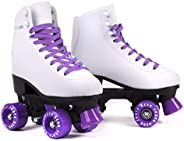 Skate Gear Soft Boot Roller Skate, Retro Fashion High Top Design in Faux Leather for Indoor & Out
