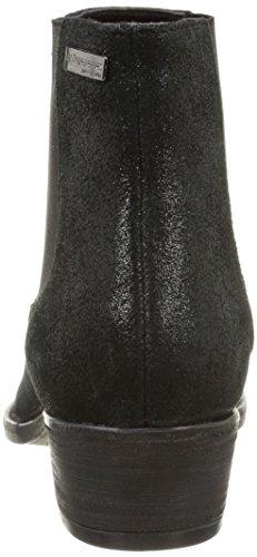 Noir Schwarz Brillant Chelsea Boots Tropéziennes Damen Libre Les wqa1Sf1