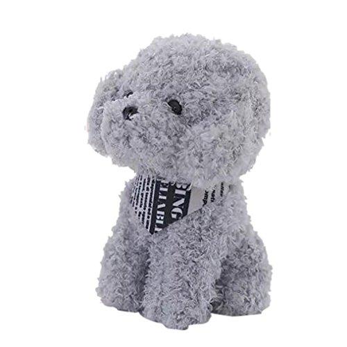 OVERMAL Plush Animal Toys Dolls Cute Dog Toy Baby Doll 7.8 inch Stuffed Toy Soft (Teddy dog, Grey) -