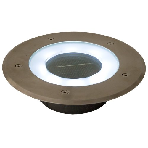 Commercial Grade 8 Led White Halo Solar Round Recessed