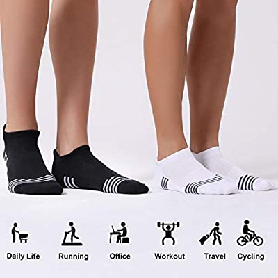 CelerSport Ankle Running Socks for Men and Women Low Cut Athletic Sports Socks(6 Pairs): Clothing