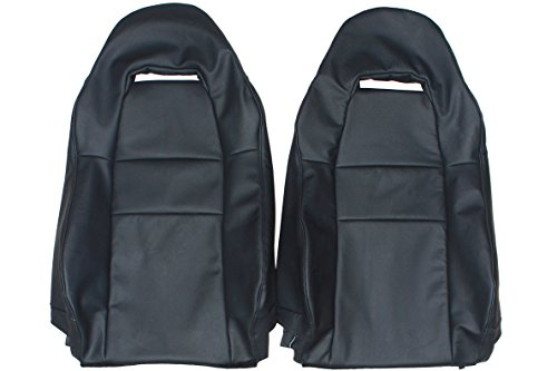 - 1999-2007 Toyota MR-2 MR-S Spyder Genuine Leather Seats Cover Custom Made (Front)Charcoal Black