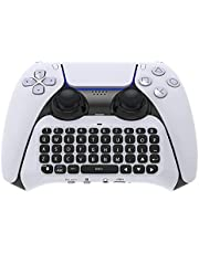 Controller Wireless Keyboard Compatible with PS5, Bluetooth Keyboard Chatpad, Mini Rechargable Handheld Remote Control Keyboard Compatible with Playstation 5 Controller