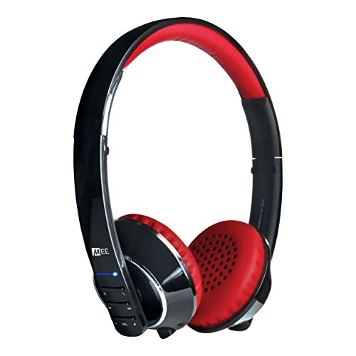 MEE audio Runaway 4.0 Bluetooth Stereo Wireless + Wired Headphones with Microphone (Black/Red) by MEE audio