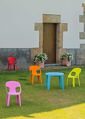 Resol Set Rita - Color Rosa, 1 Mesa y 2 sillas: Amazon.es: Hogar