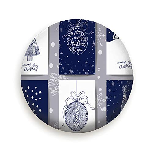 Tire Cover Set Christmas New Year Greeting Cards Beauty Fashion Holidays Polyester Universal Spare Wheel Tire Cover Wheel Covers Jeep Trailer Rv Suv Truck Camper Travel Trailer Accessories