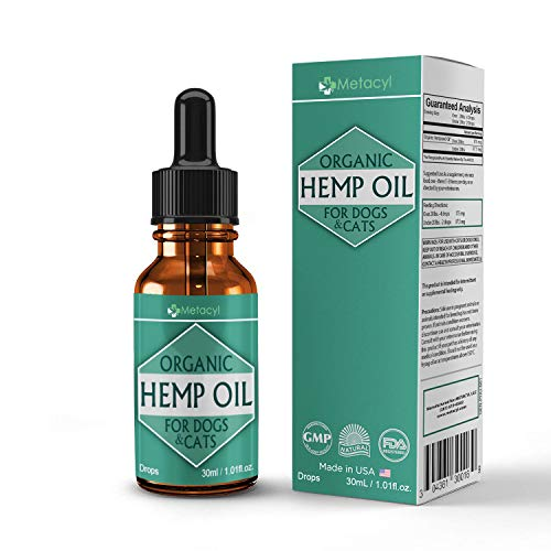 METACYL Natural Hemp Oil for Dogs and Cats (2000 mg) - Organic Remedy for Anxiety, Arthritis Pain, Skin and Fur Support - Pain Medication for Dogs and Cats - no THC Hemp Seed Oil