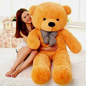 5dd3a4889db Image Unavailable. Image not available for. Colour: AVS Super 3 Feet Teddy  Bear With Neck Bow (91 Cm ...