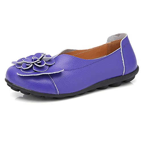 LINGTOM Casual Moccasin Shoes Women Flat Loafer Girls Slippers Slip-on for Driving Purple