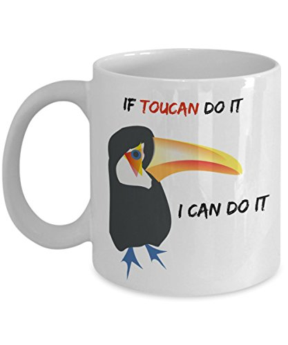 If Toucan Do It I Can Do It. What is your superpower? Nerdy glasses Quote Funny Coffee Mug Cup Perfect and Cool Gift for People who are always positive warm (Larry Bird Halloween Costume)