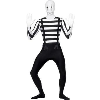 Amazon.com: extragrande adultos disfraz de Mime Segunda Piel ...