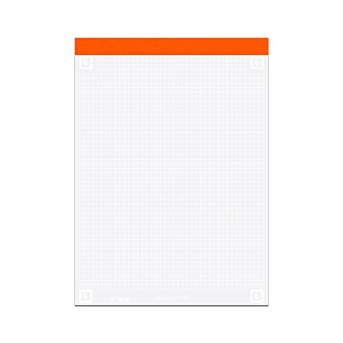 Roaring Spring Whitelines Legal Pad, 8.5 x 11.75, Graph, 40 sheets