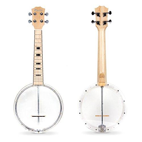 Kmise 4 String Banjo lele Ukulele Uke Concert 23 Inch Size (Type 6)