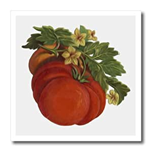 ht_104682_2 Dooni Designs Vintage Designs - Vintage Victorian Digital Oil Painting Fruit Tomatoes - Iron on Heat Transfers - 6x6 Iron on Heat Transfer for White Material