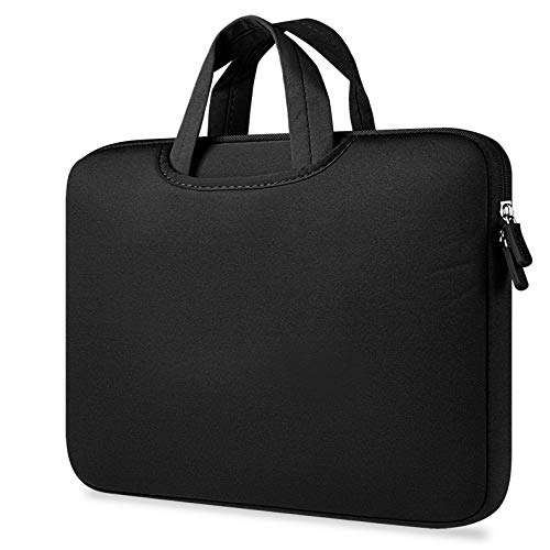 Sammid Sleeve Case for MacBook 12 inch, Briefcase Sleeve Protective Case Canvas Laptop Sleeve Bag with Pocket and Handle for Most 11-12 Inch Laptop, Notebook, MacBook etc - Black by Sammid