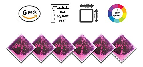 Liquid Floor Tile Playroom / Dance Floor / Sensory Room Tile (Purple) 6 Pack