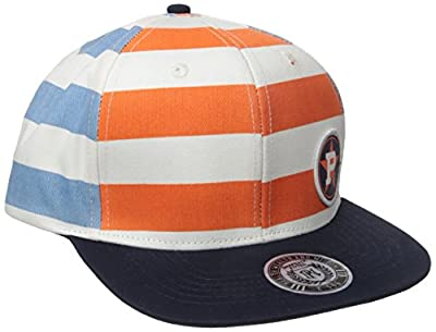 PARISH NATION Men's Orange and Blue Snap Back Hat by PARISH NATION Young Mens Clothing