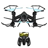 MKB Mini Drones for Kids Beginners Remote Control Helicopter with Camera Micro rc Indoor Outdoor Live Video WiFi FPV High Tenacity Anti-Broken, Black, 31319cm