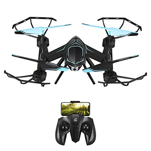 MKB Mini Drones for Kids Beginners Remote Control Helicopter with Camera Micro rc Indoor Outdoor Live Video WiFi FPV High Tenacity Anti-Broken, Black, 31319cm (Rc Sport Control Helicopter Remote)