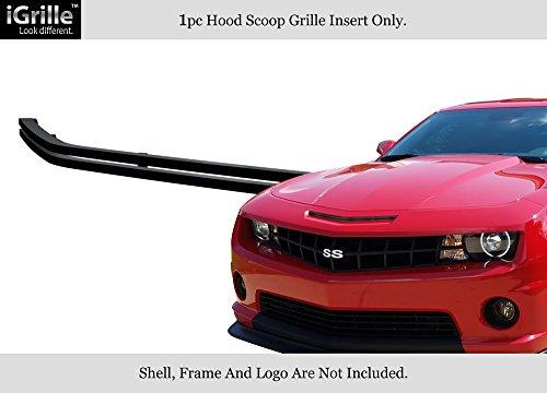 Hood Camaro Scoop (Fits 2010-2013 Chevy Camaro Hood Scoop Black Stainless Steel Billet Grille #C66846J)