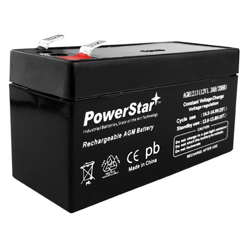 - POWERSTAR Replacement 12 Volt 1.3 Amp SLA Sealed Lead Acid Rechargeable Battery