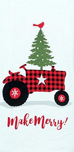 Tractor Design - Kay Dee Designs Buffalo Check Holiday Tractor Tree Flour Sack Dish Towel