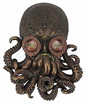 Steampunk Octopus Wall Plaque Sculpture - Steampunk Wall Decor