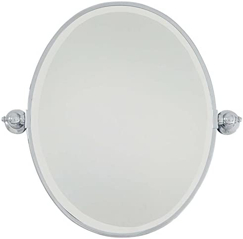 Minka Lavery Oval Mirror, Standard, Chrome Finish