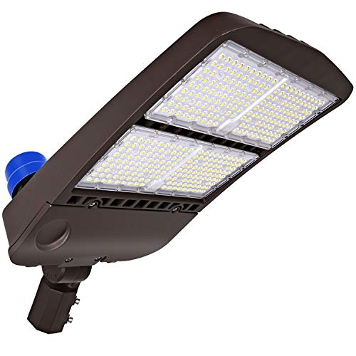 Hykolity 300W LED Parking Lot Light with Photocell,39000lm 5000K Waterproof LED Shoebox Fixture, Outdoor Pole Mount Light for Large Area Lighting [1000w Equivalent] Slip Fitter DLC Complied