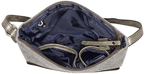 GERRY WEBER Damen Voice Shoulder Bag V, S Schultertaschen, 24x22x1 cm Grau (Light Grey 801)