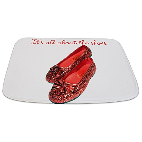 CafePress Ruby Slippers - Decorative Bathmat, Memory Foam Bath Rug durable service