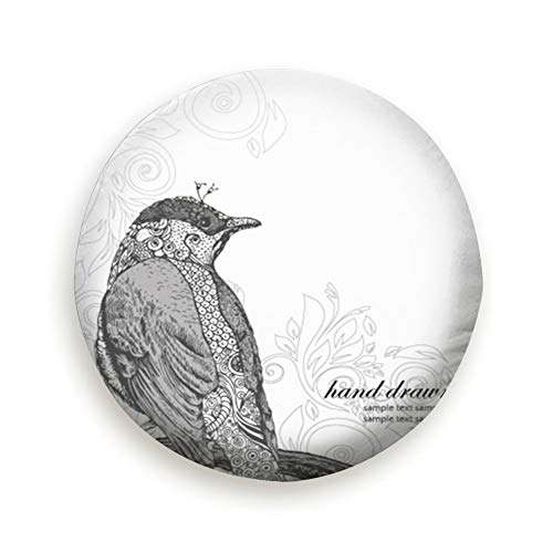 Vintage Bird Clipart - Hand Drawn Bird On Branch Vintage Clip Art Universal Spare Wheel Tire Cover Fit for Truck Camper Van,Jeep,Trailer, Rv, SUV Trailer Accessories