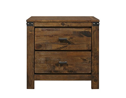 Global Furniture USA NS Victoria Nightstand, Rustic Oak
