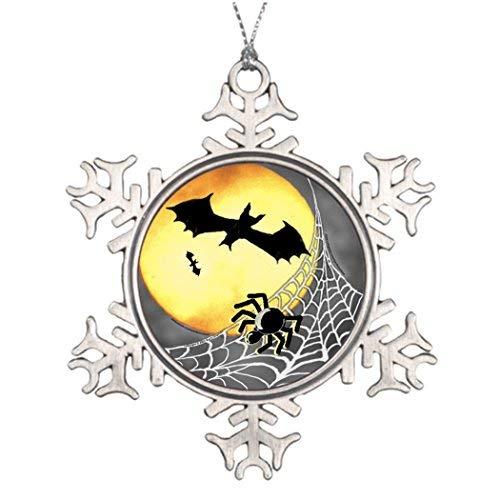 OneMtoss Christmas Snowflake Ornament Tree Decorating Ideas Halloween Spiders Bats Unusual Christmas Tree -