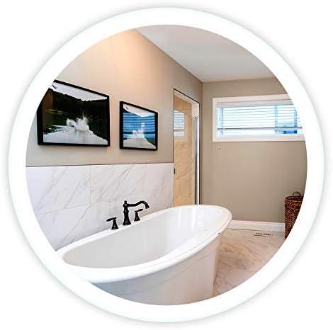 LED Side-Lighted Bathroom Vanity Mirror: 48″ Wide x 48″ Tall
